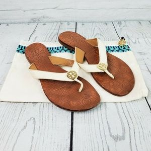 Tory Burch Thora Thong Sandals & Dust Bag Sz 8